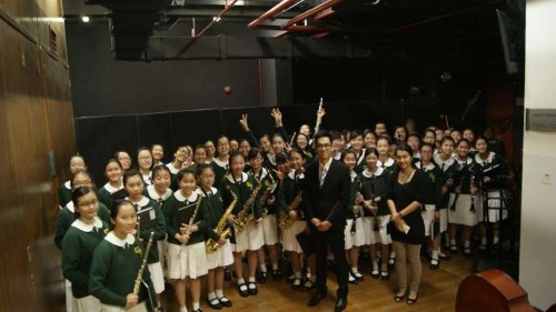Good Hope School Symphonic Band before Competition. - PHOTO: RAVE GROUP