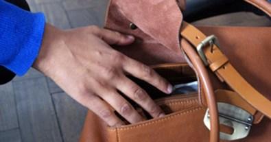 Theft from an open handbag