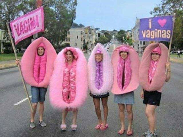 Women Granted Right to Wear Giant Vaginas After Women's March