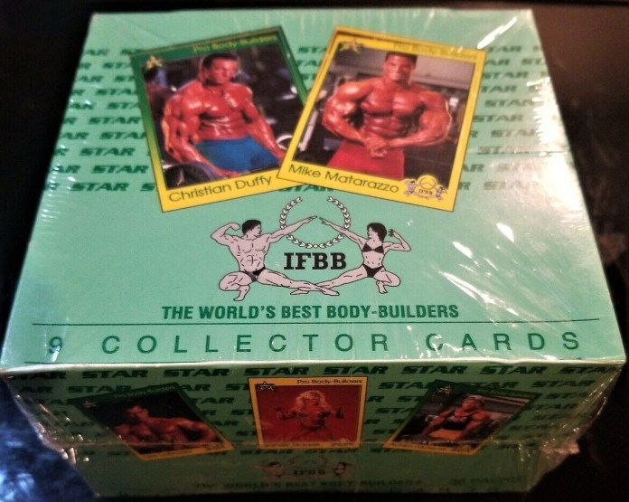 unopened box bodybuilders trading cards
