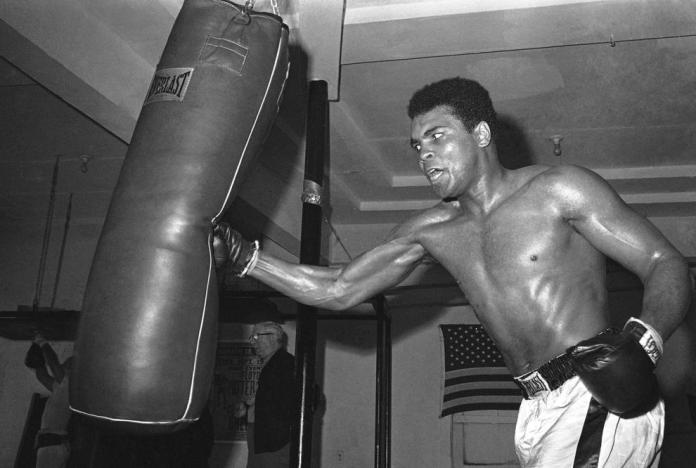 Ali punches bag 1870