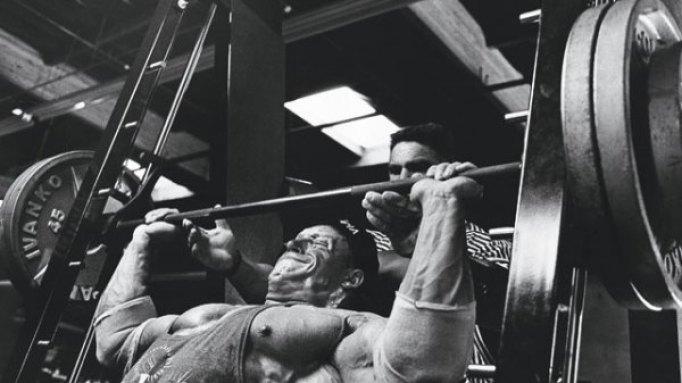 Dorian Yates shoulder presses