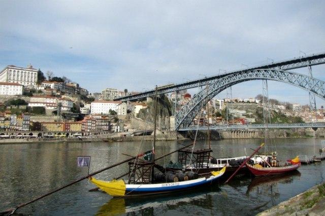 Boats on the Douro River Porto Portugal