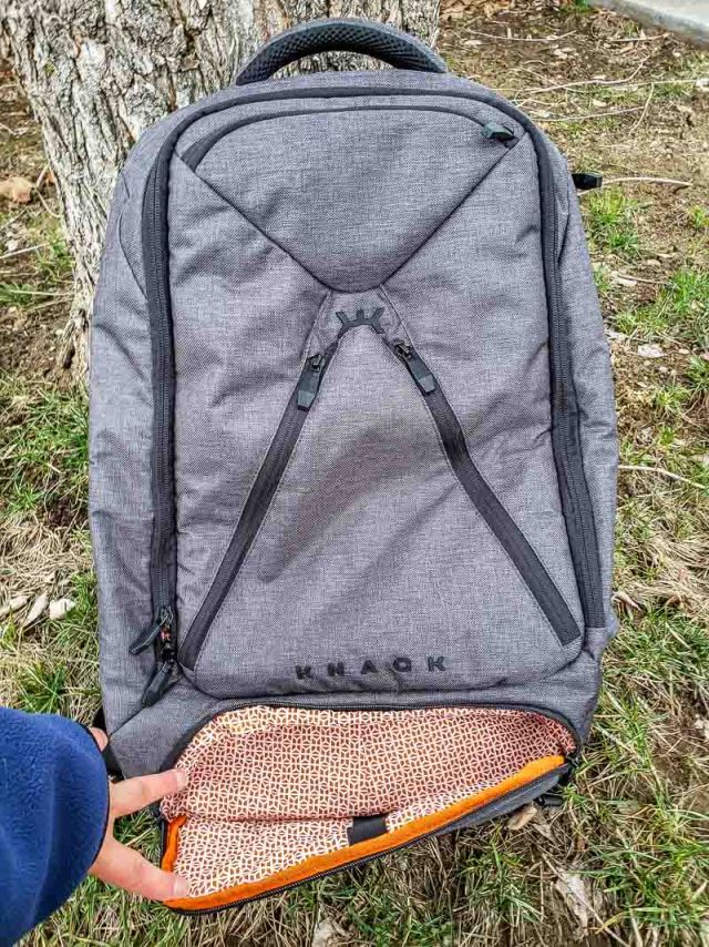 Knack backpack bottom compartment