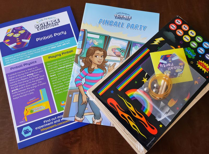 Little Passports Science Expeditions review Pinball Party kit