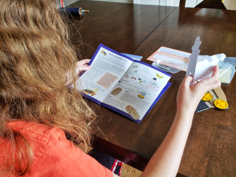 Little Passports Science Expeditions review of solar car solar energy kit subscription for kids