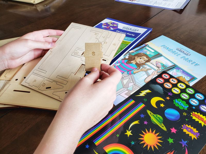 Little Passports Science Expeditions wooden parts for pinball machine