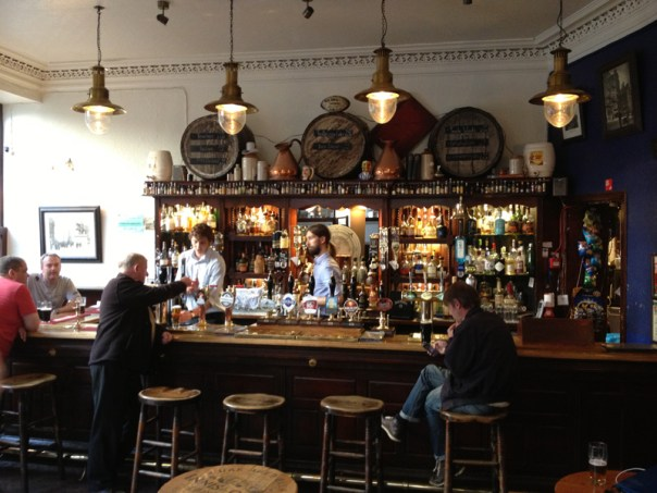 The main bar at the Blue Blazer is as traditional as you'll get in Edinburgh