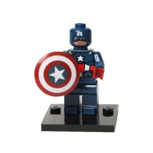 Block Minifigure Captain America