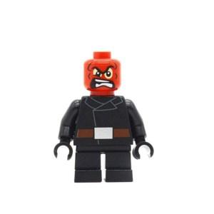 Block Minifigure Red Skull Small Legs