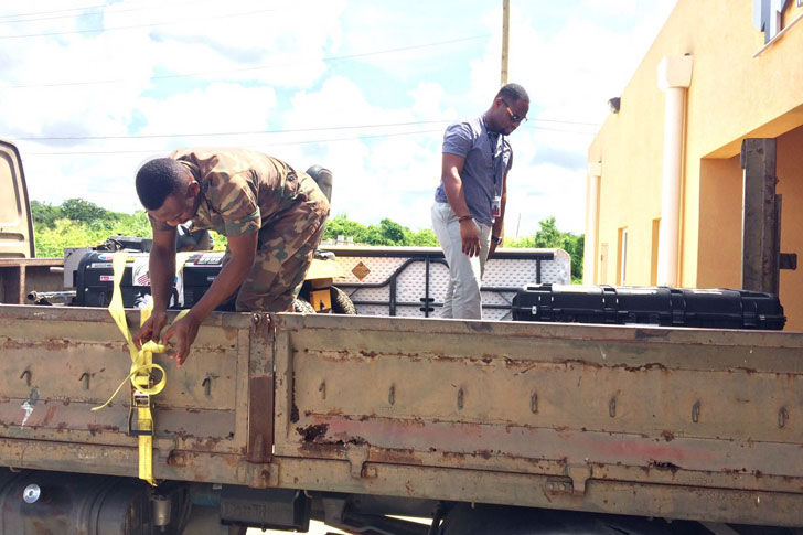 CDEMA's battle boxes being prepared for deployment to Haiti