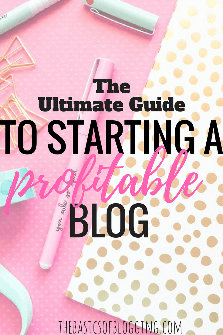 how to create and start a blog