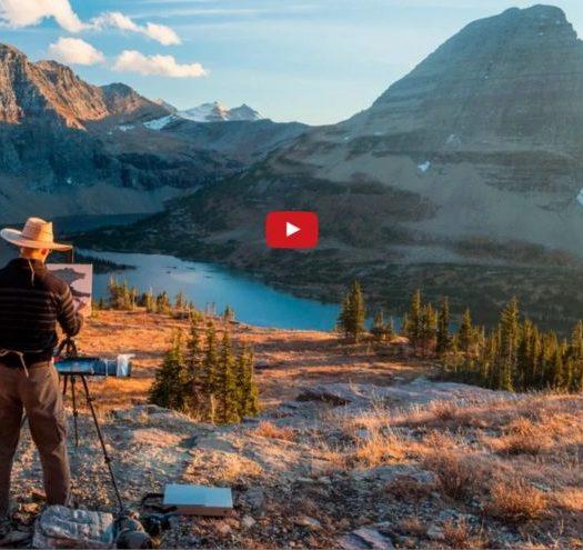 Dennis Farris Paints Glacier National Park, Montana