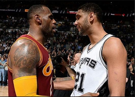 LeBron James & Tim Duncan are two of the 15 best players since 2000.
