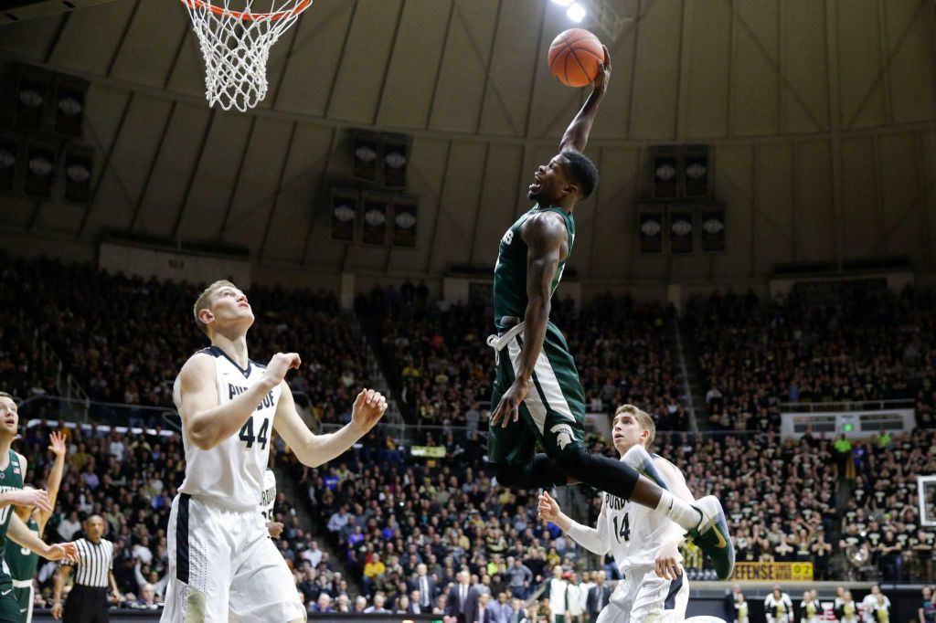 Xavier and Michigan State were both upset Monday night