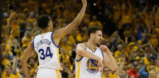 Klay Thompson had 34 in Golden State's 115-109 victory over the Rockets