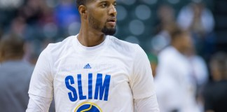 November 4, 2015: Indiana Pacers forward Paul George (13) warms up before a NBA game between the Indiana Pacers and Boston Celtics at Bankers Life Fieldhouse in Indianapolis, IN. (Zach Bolinger/Icon Sportswire)