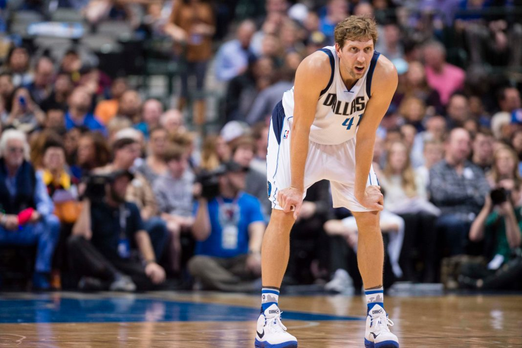 Nov 23, 2016; Dallas, TX, USA; Dallas Mavericks forward Dirk Nowitzki (41) waits for play to resume against the LA Clippers at the American Airlines Center. The Clippers defeat the Mavericks 124-104. Mandatory Credit: Jerome Miron-USA TODAY Sports
