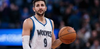 Dec 30, 2016; Minneapolis, MN, USA; Minnesota Timberwolves guard Ricky Rubio (9) dribbles in the fourth quarter against the Milwaukee Bucks at Target Center. The Minnesota Timberwolves beat the Milwaukee Bucks 116-99. Mandatory Credit: Brad Rempel-USA TODAY Sports
