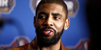 Feb 17, 2017; New Orleans, LA, USA; Kyrie Irving during the All Star media availability at the Ritz Carlton. Mandatory Credit: Derick E. Hingle-USA TODAY Sports