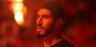 Apr 19, 2017; Houston, TX, USA; Oklahoma City Thunder center Enes Kanter (11) prior to tipoff against the Houston Rockets in game two of the first round of the 2017 NBA Playoffs at Toyota Center. Mandatory Credit: Erik Williams-USA TODAY Sports