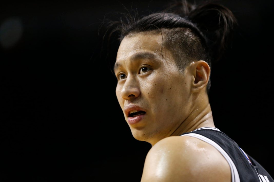 Apr 10, 2017; Boston, MA, USA; Brooklyn Nets guard Jeremy Lin (7) reacts during the third quarter against the Boston Celtics at TD Garden. The Celtics won 114-105. Mandatory Credit: Greg M. Cooper-USA TODAY Sports