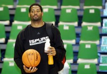 Oct. 5, 2006; France; Robert Horry with the San Antonio Spurs during their European Live Tour. Mandatory Credit: Ed Lemaistre/Panoramic/ZUMA Press/Icon Sportswire