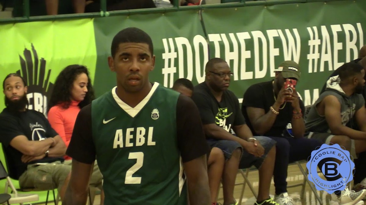 Freshly Shaved Kyrie Irving Gets Buckets At AEBL Pro-Am