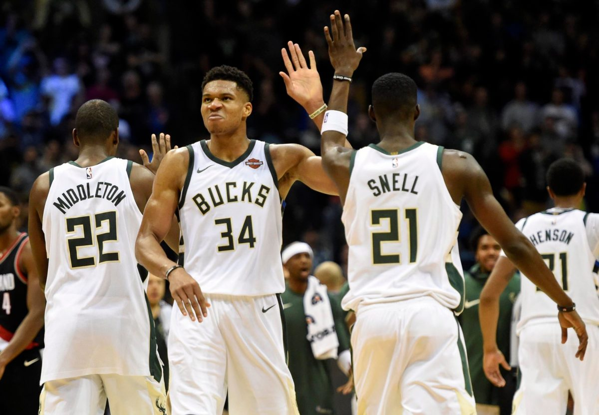 Three-Man Weave: Giannis Antetokounmpo Strikes Again