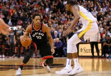 NBA: Golden State Warriors, Toronto Raptors, DeMar DeRozan