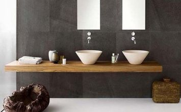 Decoración perfecta con lavabo sobre encimera