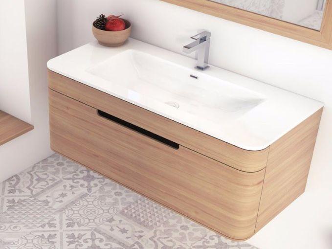 Distribución muebles de baño pequenos
