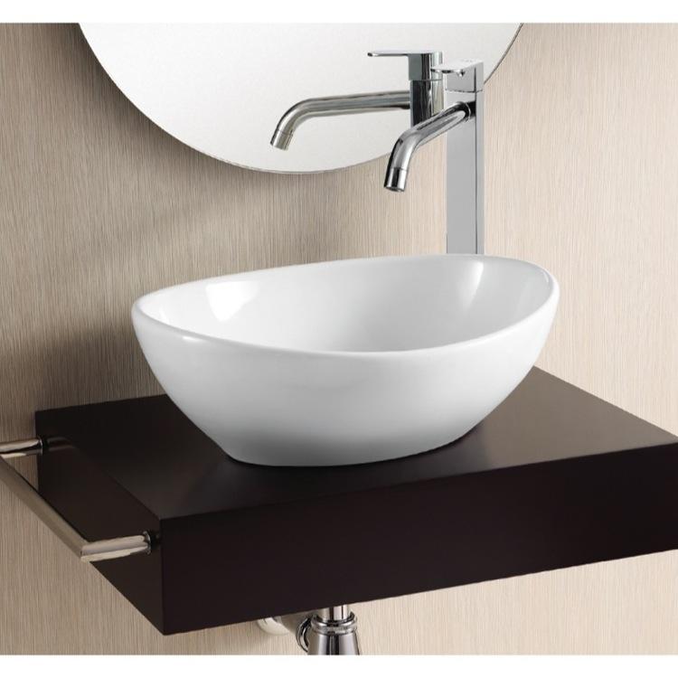 modern ceramic vessel sink large round