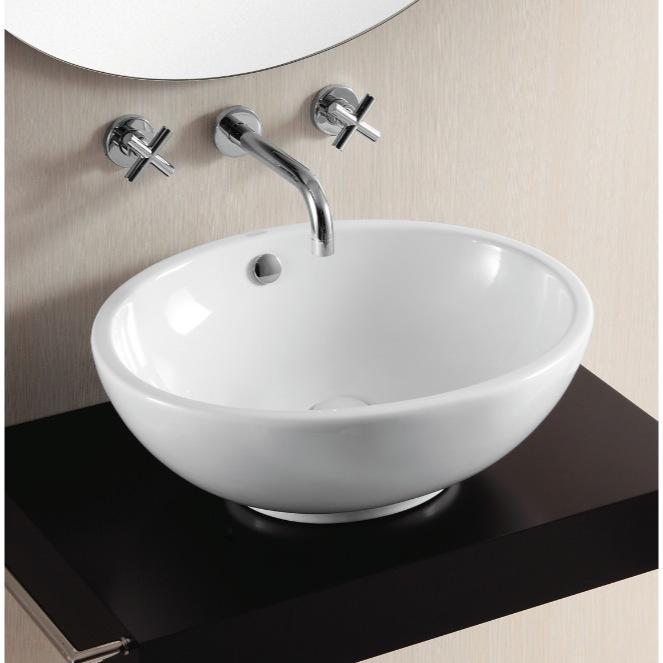 oval white ceramic vessel bathroom sink