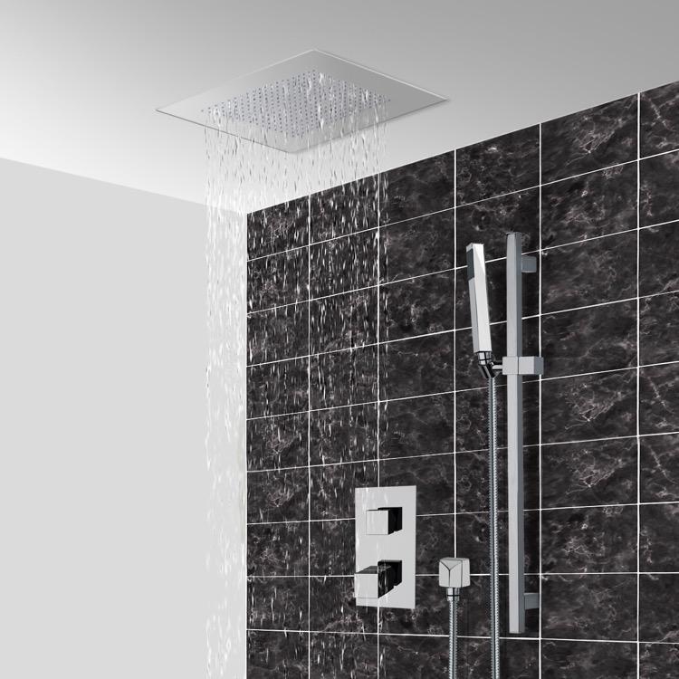 16 ceiling mount led rain shower