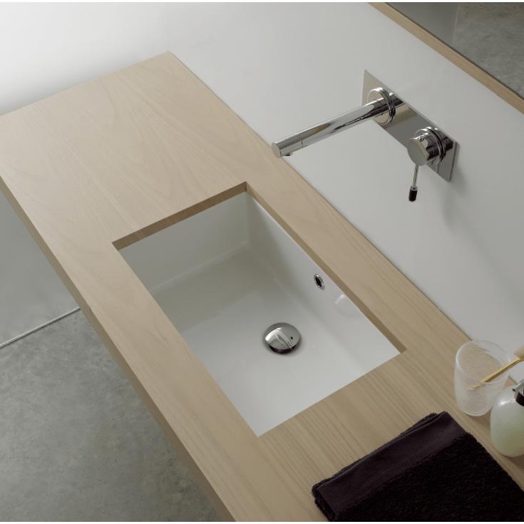 35 inch rectangular ceramic undermount sink