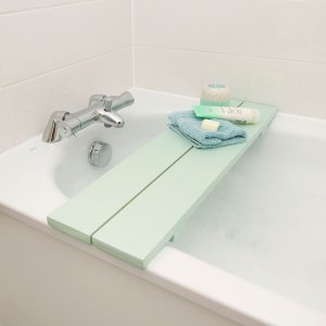 Wooden Over The Bath Tub Rack Shelf Caddy Mint
