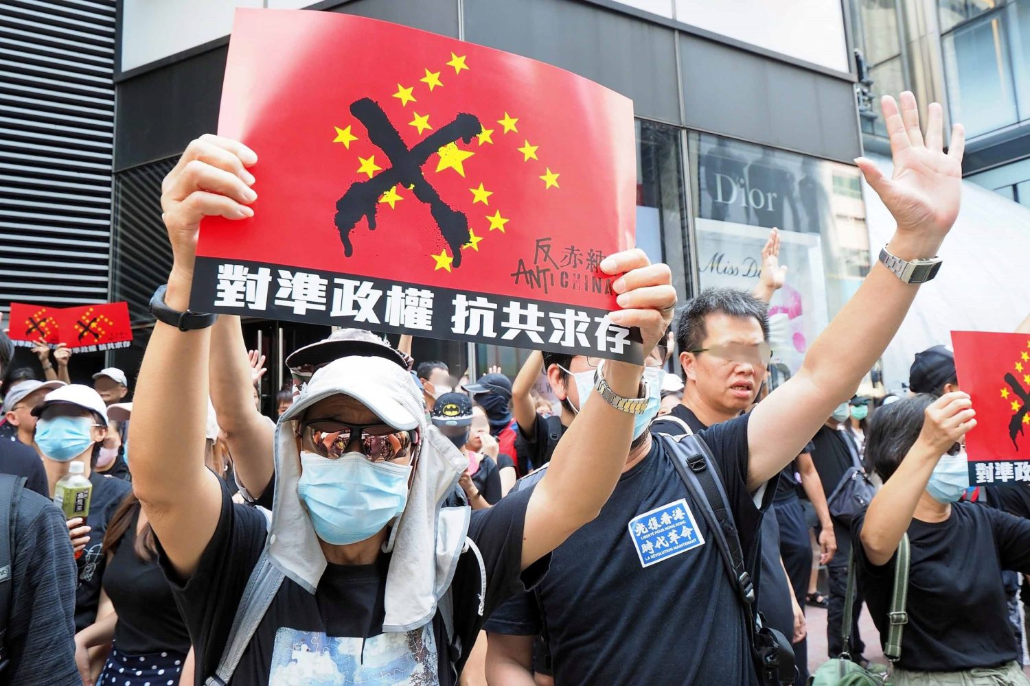 Communism has been replaced by fascism. Student protestors, Hong Kong.