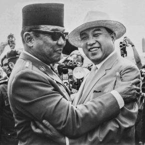 Washington didn't like them. Sukarno and Kim Il-Sung, 1965.