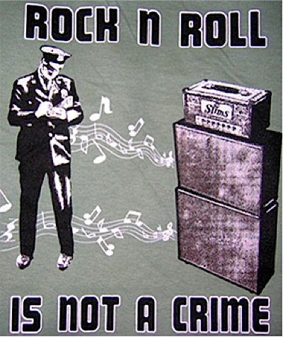 Rock N' Roll is Not a Crime T-Shirt