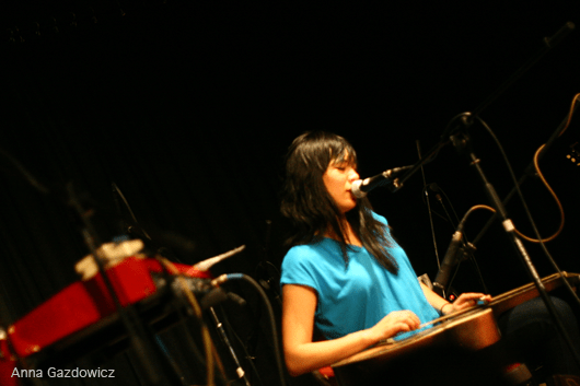 Thao performing at Bay Area Girls Rock Camp Art Auction 2011