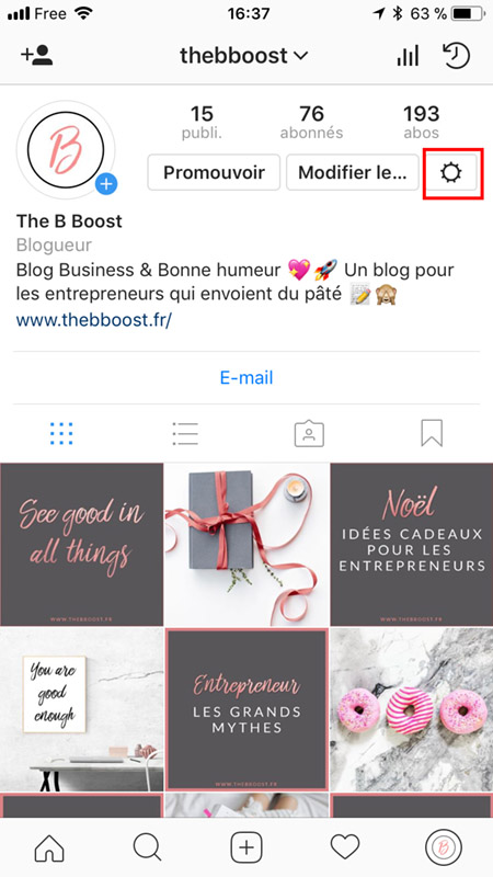 Booster son compte Instagram. Un article du blog TheBBoost.