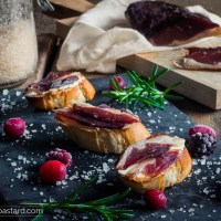 Smokey duck prosciutto - Cured in Berry flavored salt