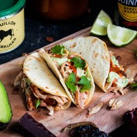 Pulled Chicken Taco - stout beer mole
