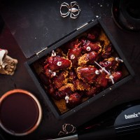 Bloody Rum Glazed chicken hearts - The Ultimate halloween Snack