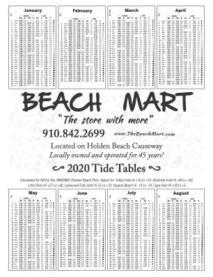Holden Beach Tide Charts Beach Mart