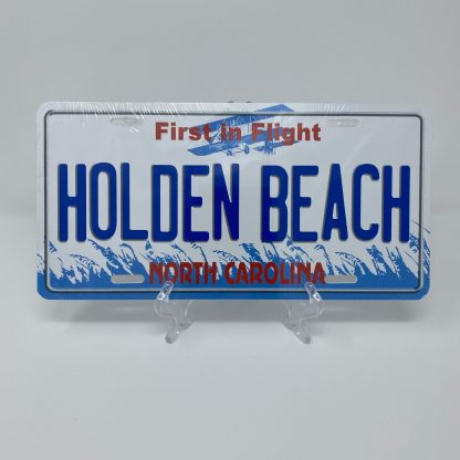 Holden Beach License Plate - First in Flight