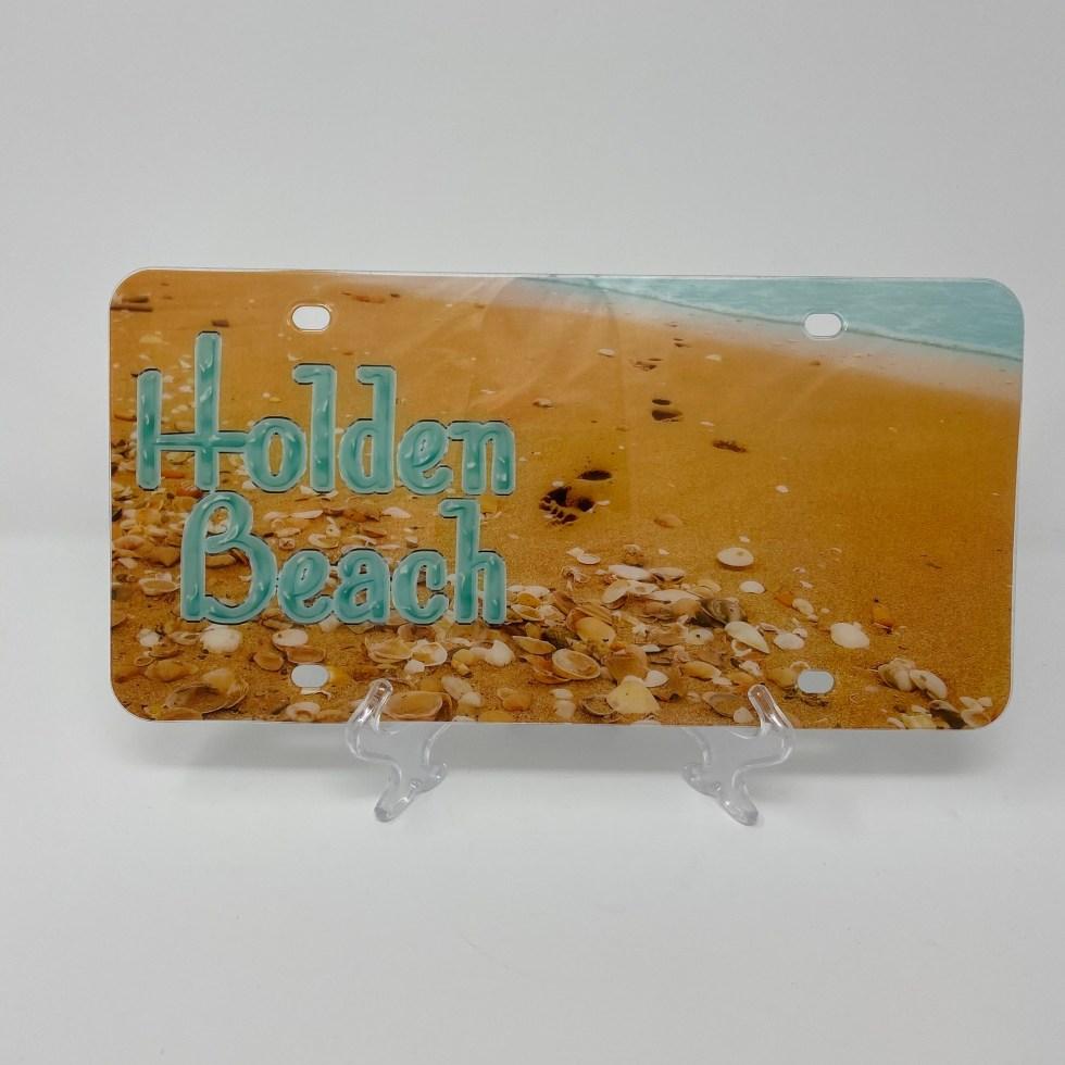 Holden Beach License Plate - Beach Shells