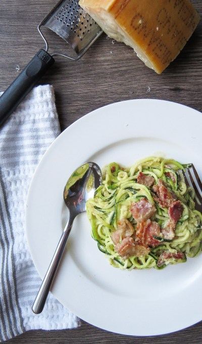 Classic Carbonara with Zucchini Noodles
