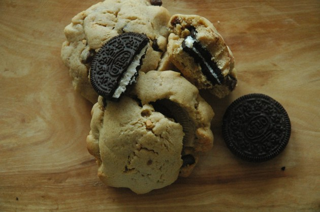 Oreo Stuffed Peanut Butter Cookie